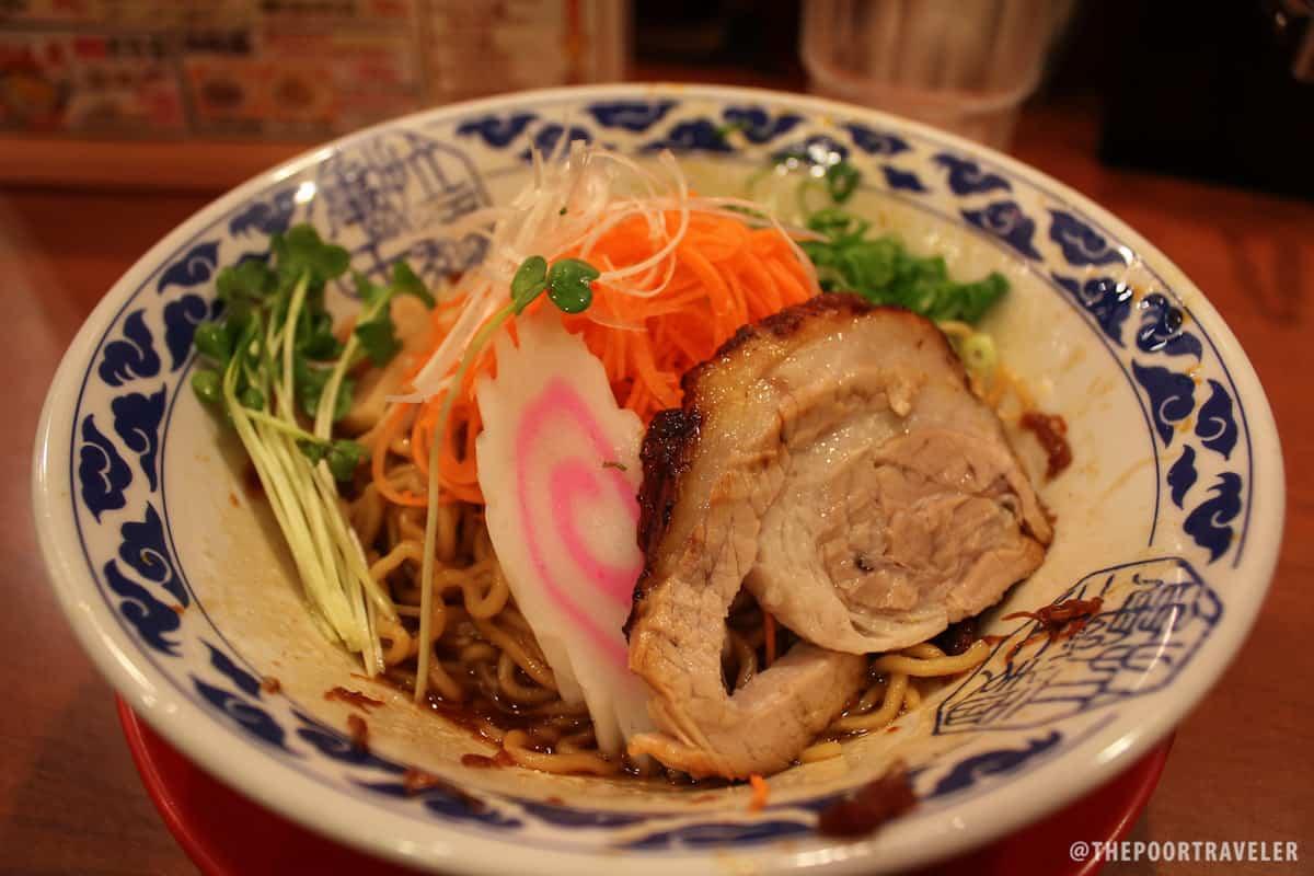 My Kyushu Shoyu Ramen, tastes like Lucky Me Pancit Canton, except better. Much better.