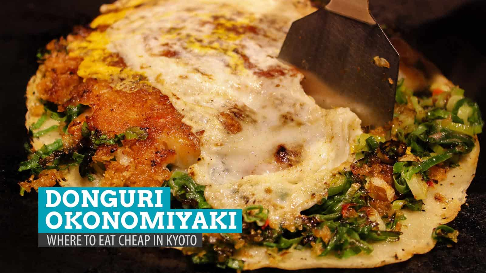 Donguri Okonomiyaki Dining in Kyoto, Japan