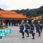 The Changing of the Guards at the Martyrs' Shrine, Taipei, Taiwan