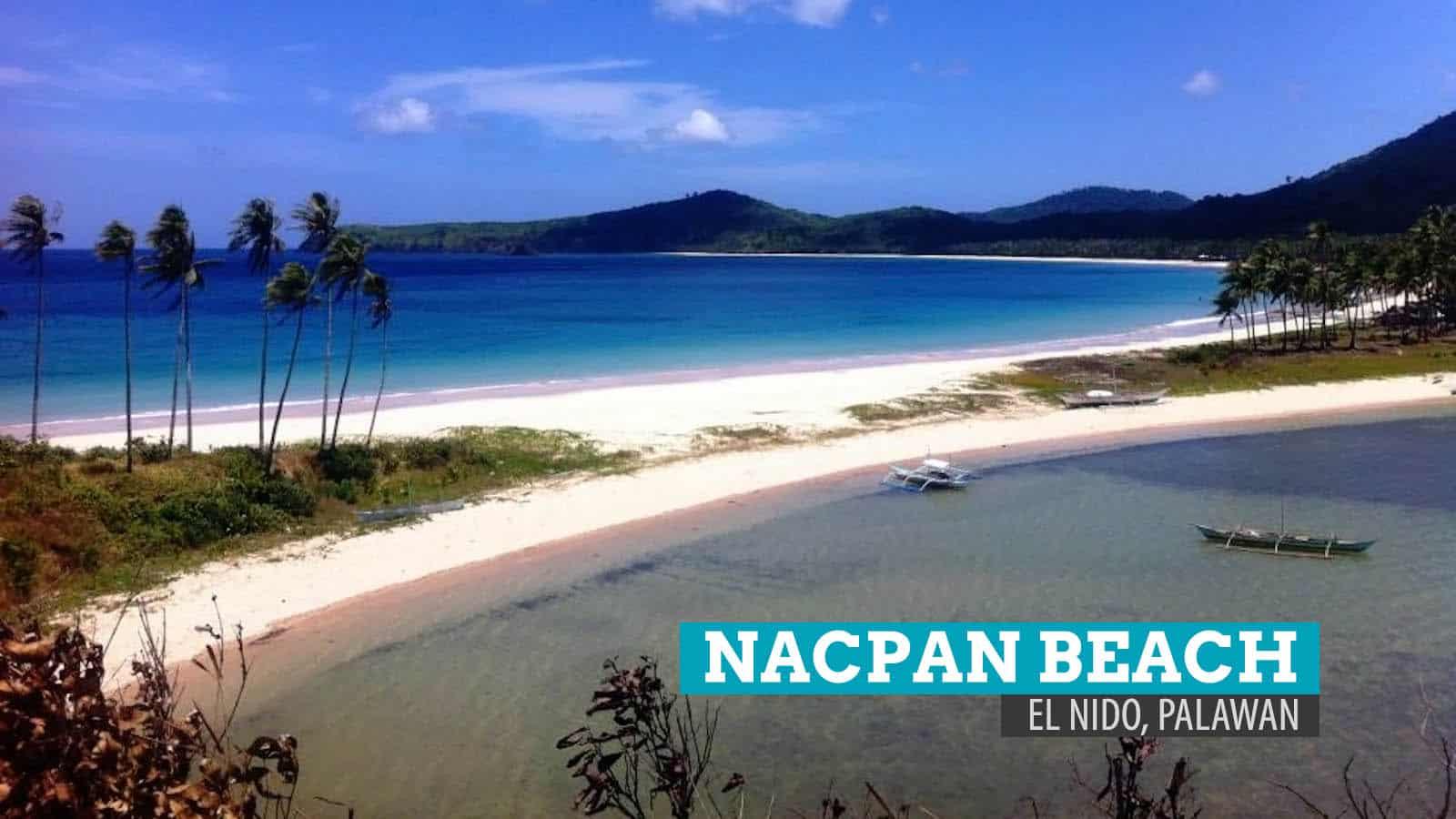 The Twin Beaches Of Nacpan And Calitang El Nido Palawan