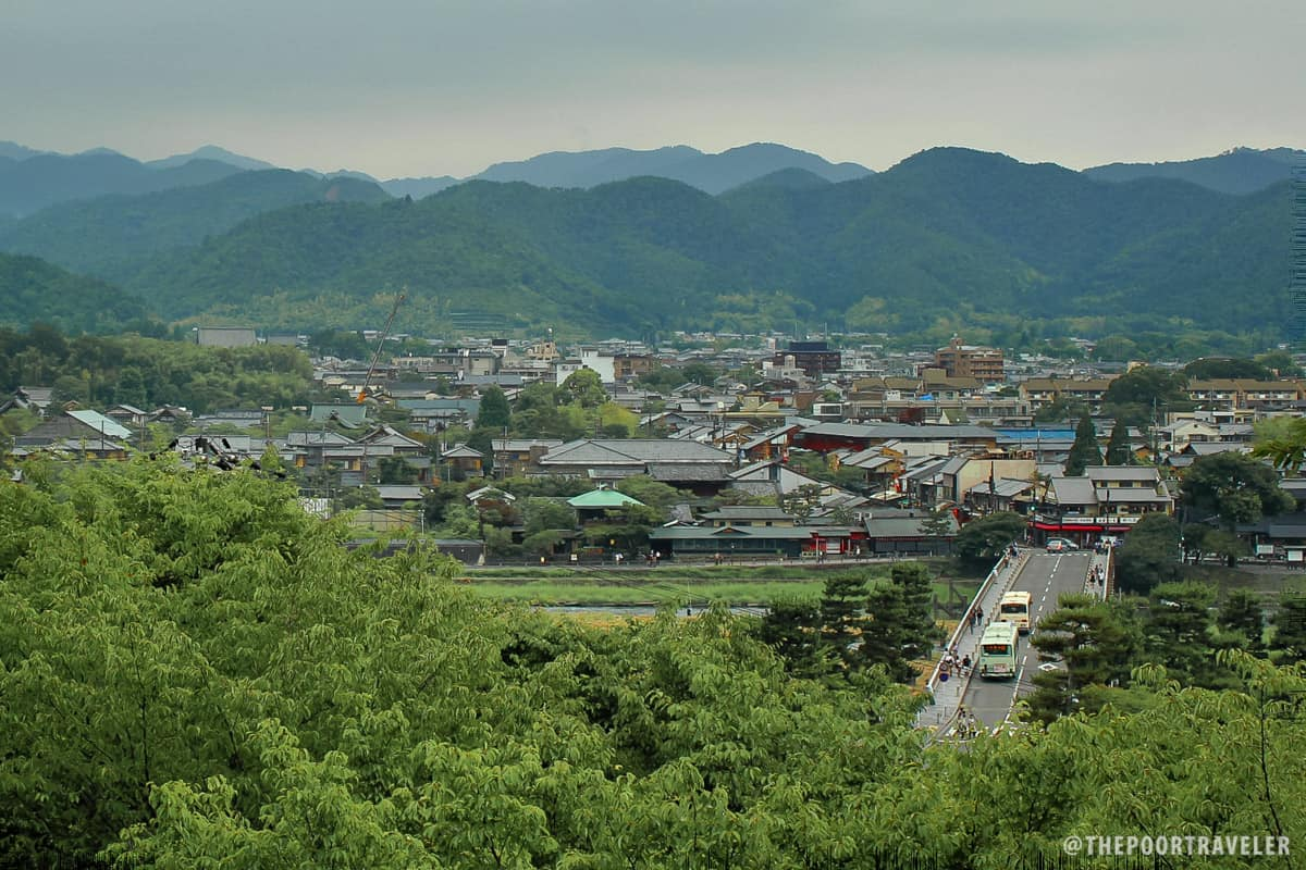 View of the city from Horinji Temple