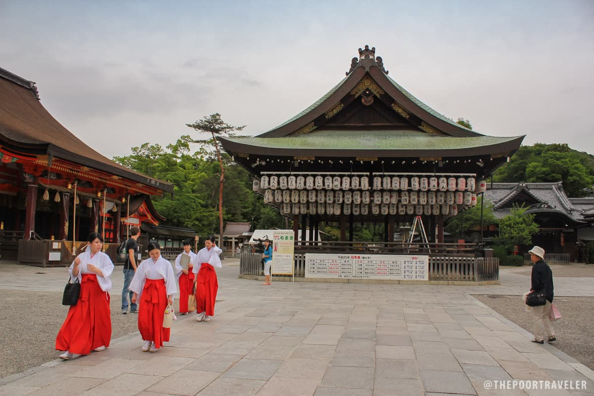The dance hall in front of Yasaka Shrine