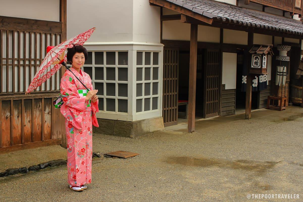 Not a real geisha but an actress at Toei Movie Park
