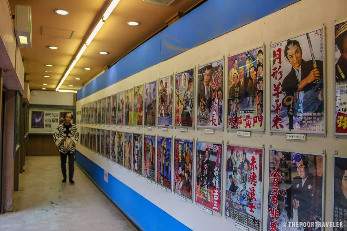 Show posters inside the theater