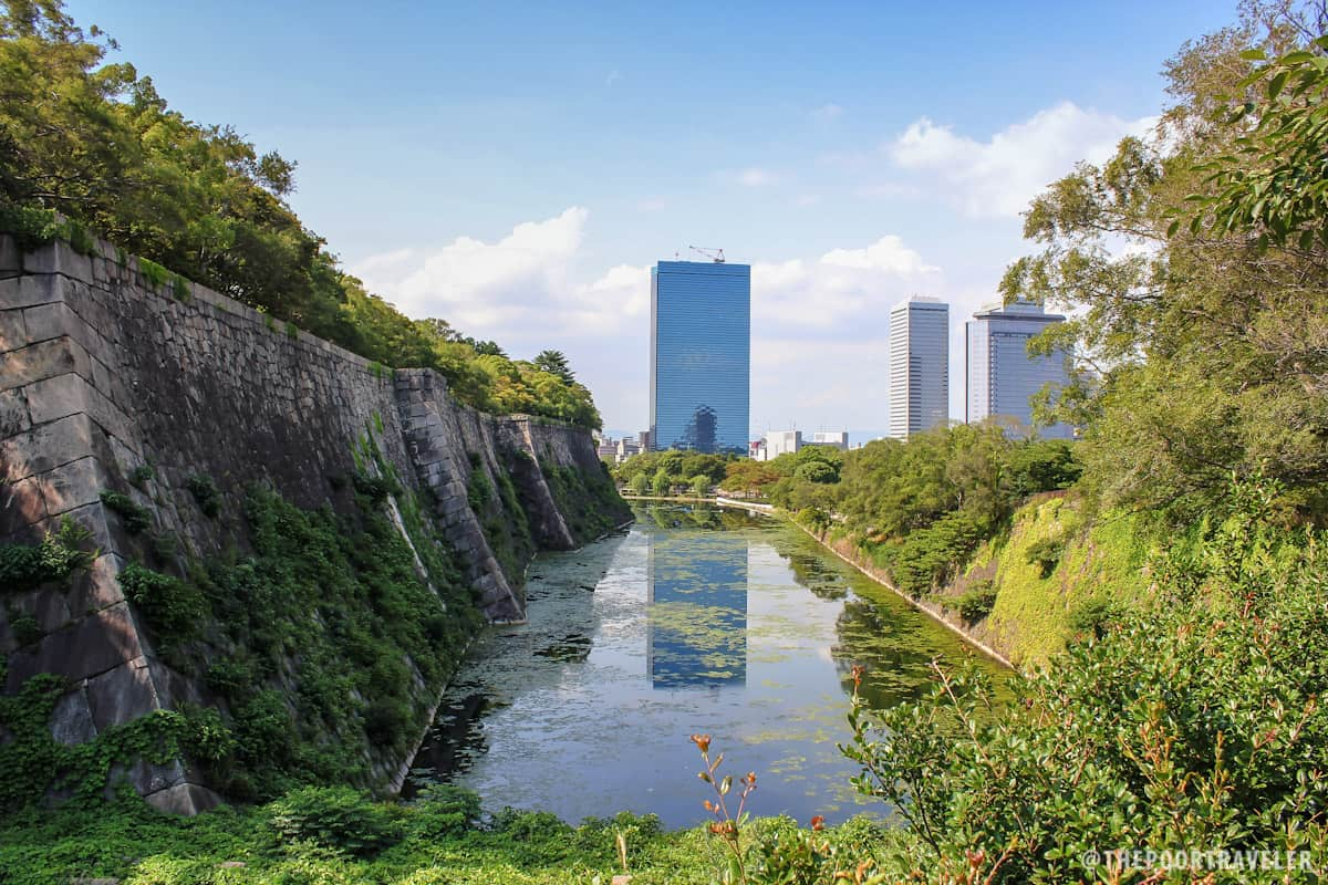 The inner moat of Osaka Castle Park