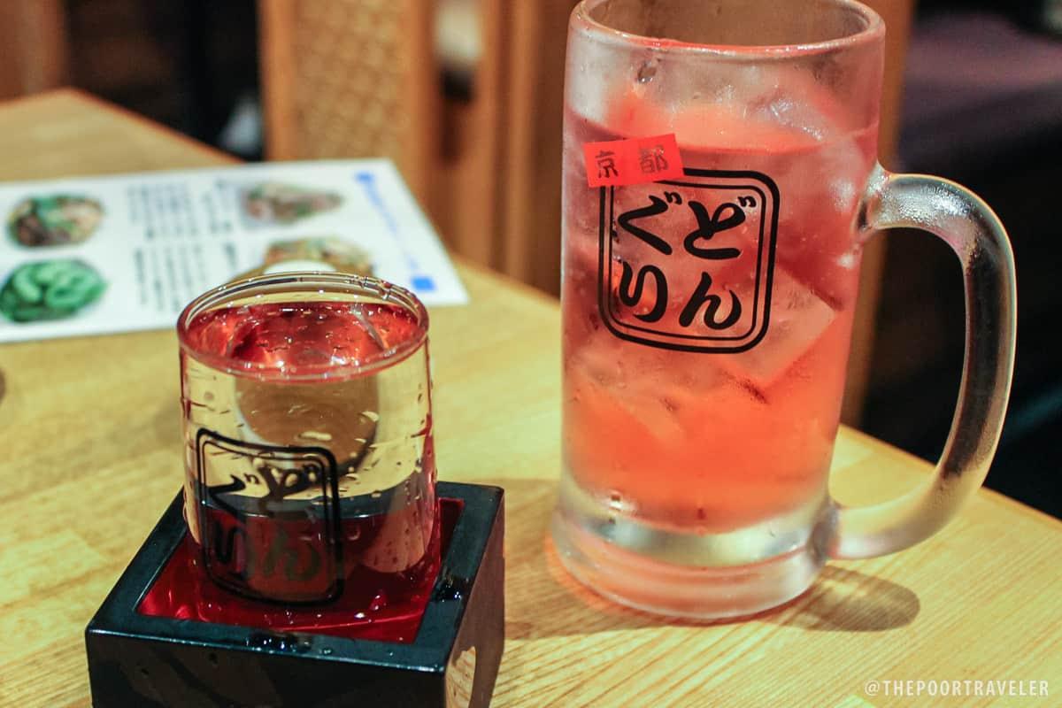 Sake (JPY525) vs Chu-hi (JPY399)