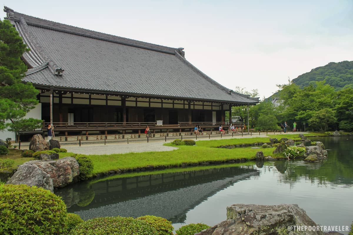 Tenryuji Temple and Pond