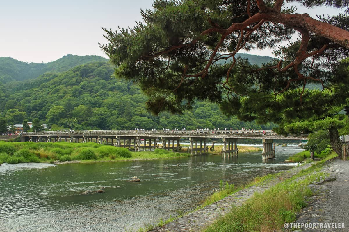 Togetsukyo Bridge during summer
