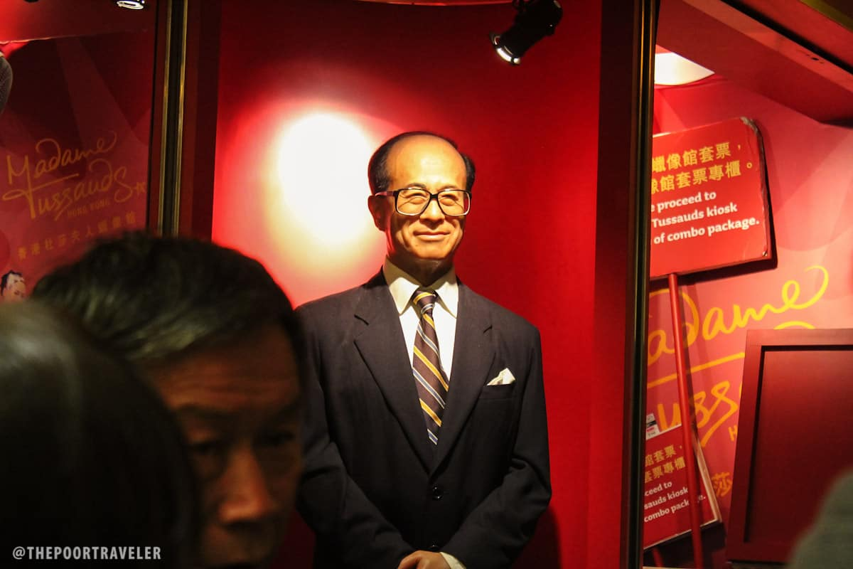 A wax figure at the lower terminus