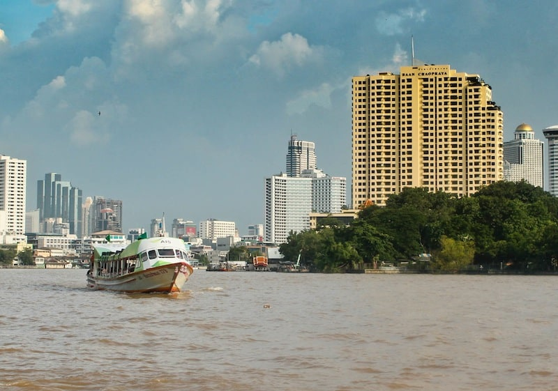 Boat on Chao Phraya River