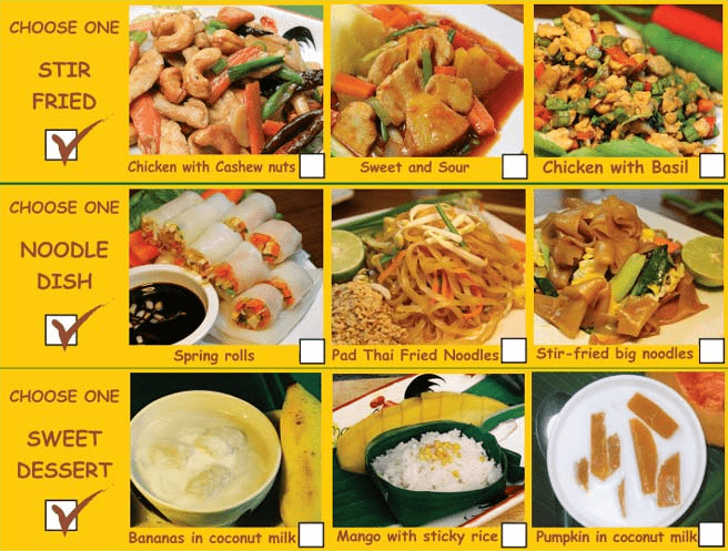 chiang mai chooking school menu