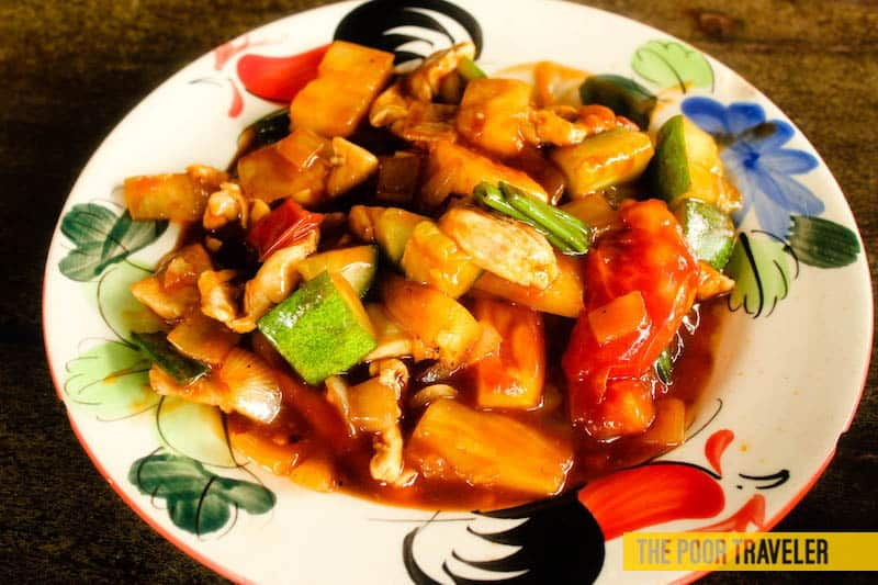 Sweet and sour! Like the cook!