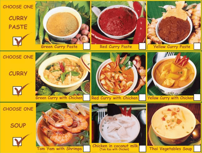 thai farm cooking school brochure