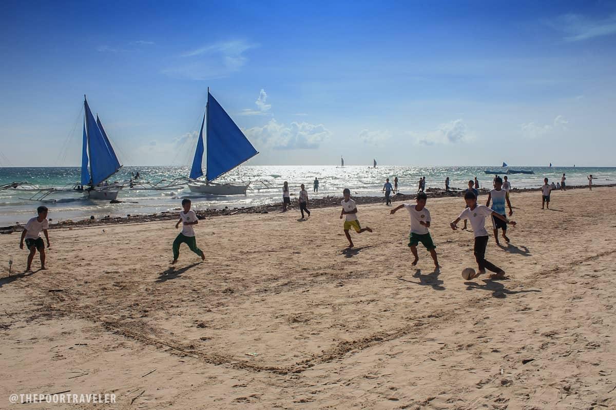 Beach football!