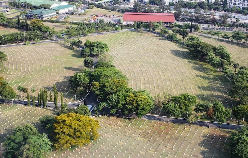 Aerial shot of Libingan ng mga Bayani