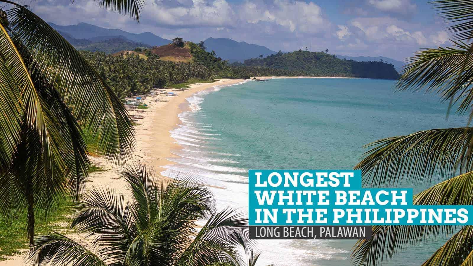 Long Beach San Vicente Palawan The Longest White Beach