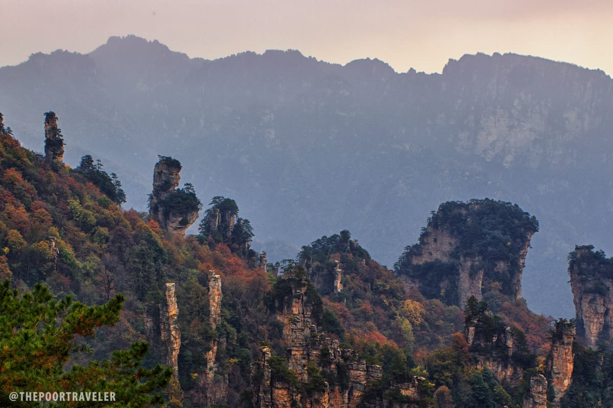 Xian Nü San Hua. A rock formation that looks like a fairy dispersing flowers by the cliff.