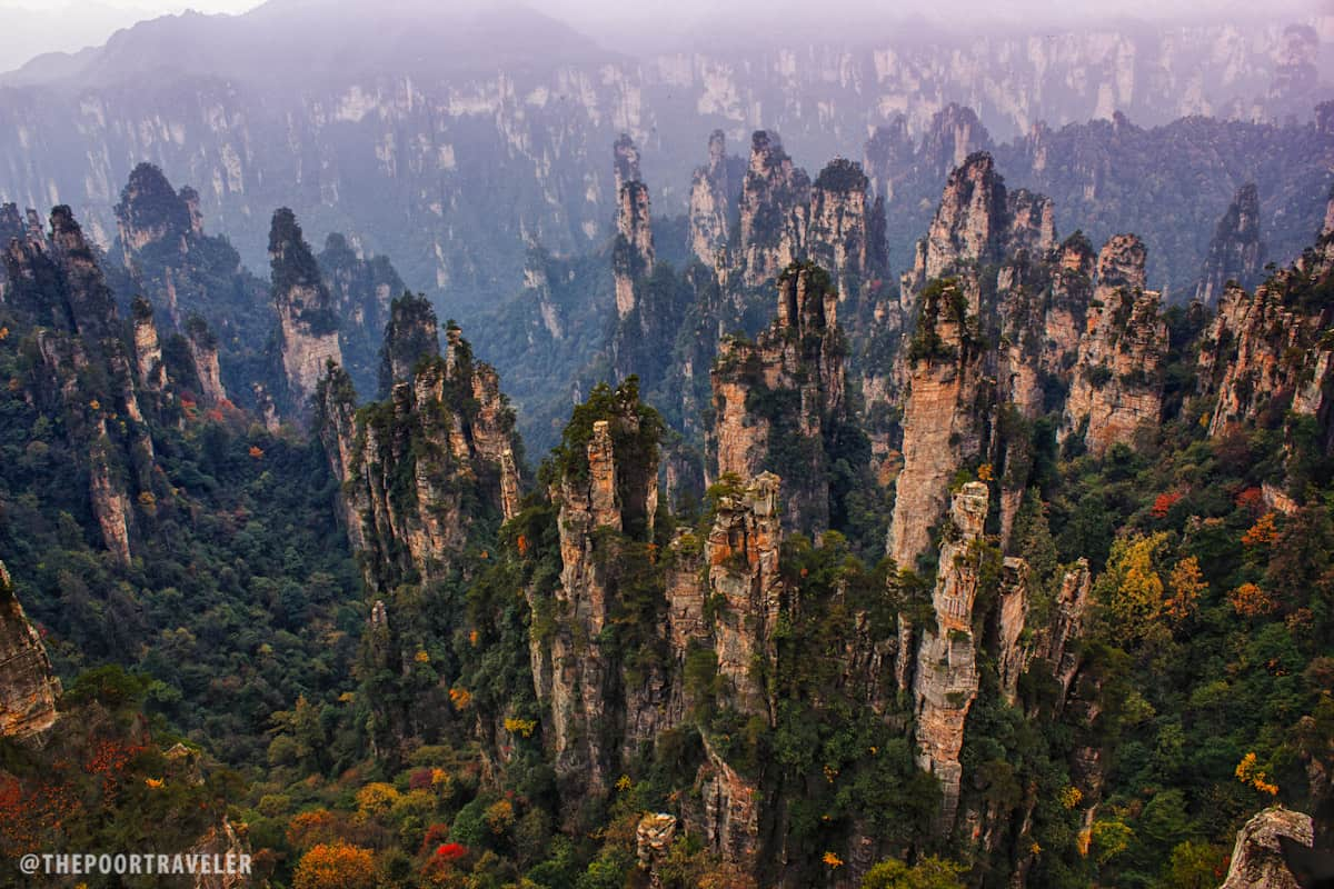 Statues Of Gods Tianzi Mountain Rock And Lore In Zhangjiajie China The