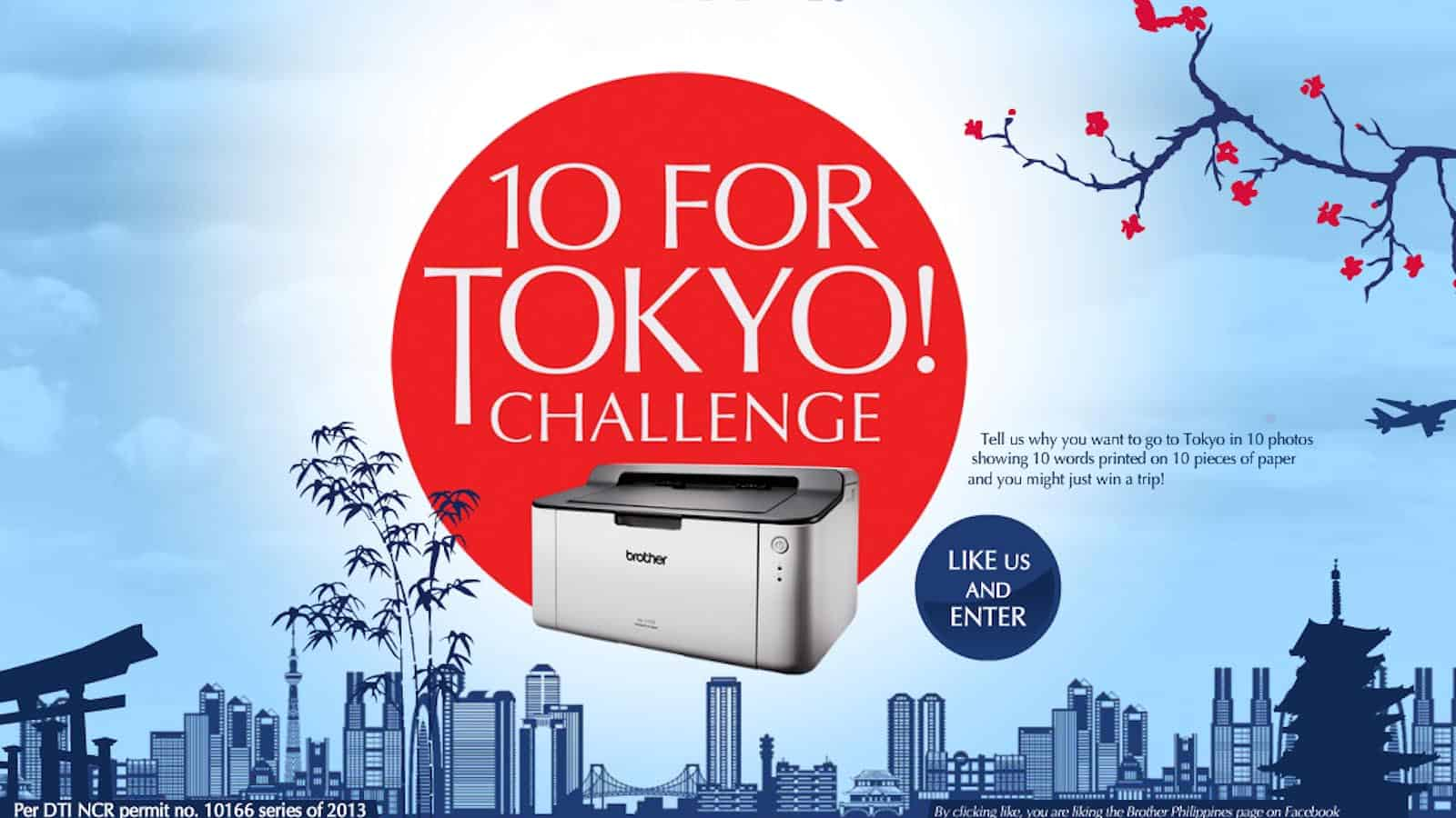Win a Trip to Japan! Join the Brother '10 for Tokyo' Challenge!