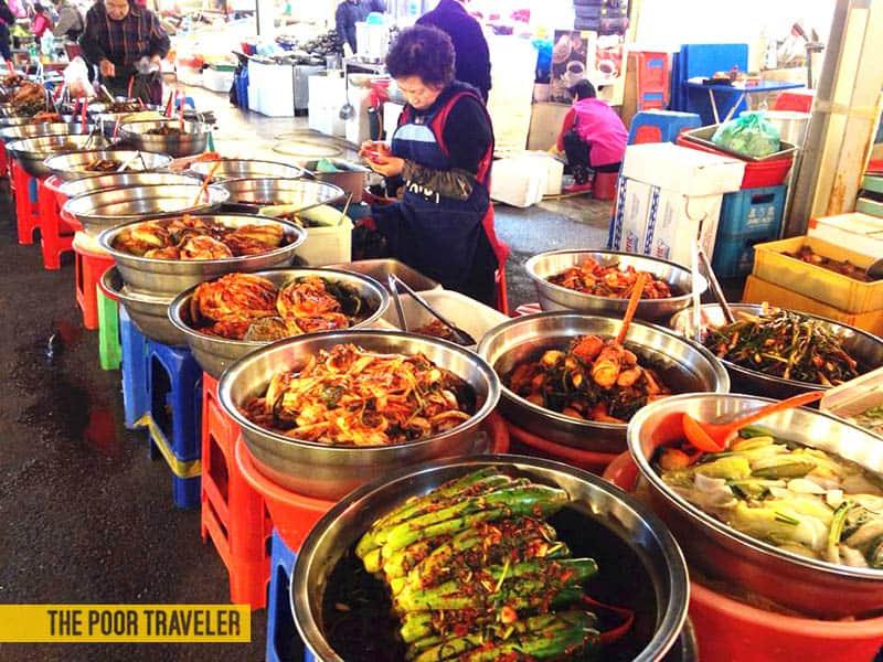 Kimchi Overload at Gwangjang Market
