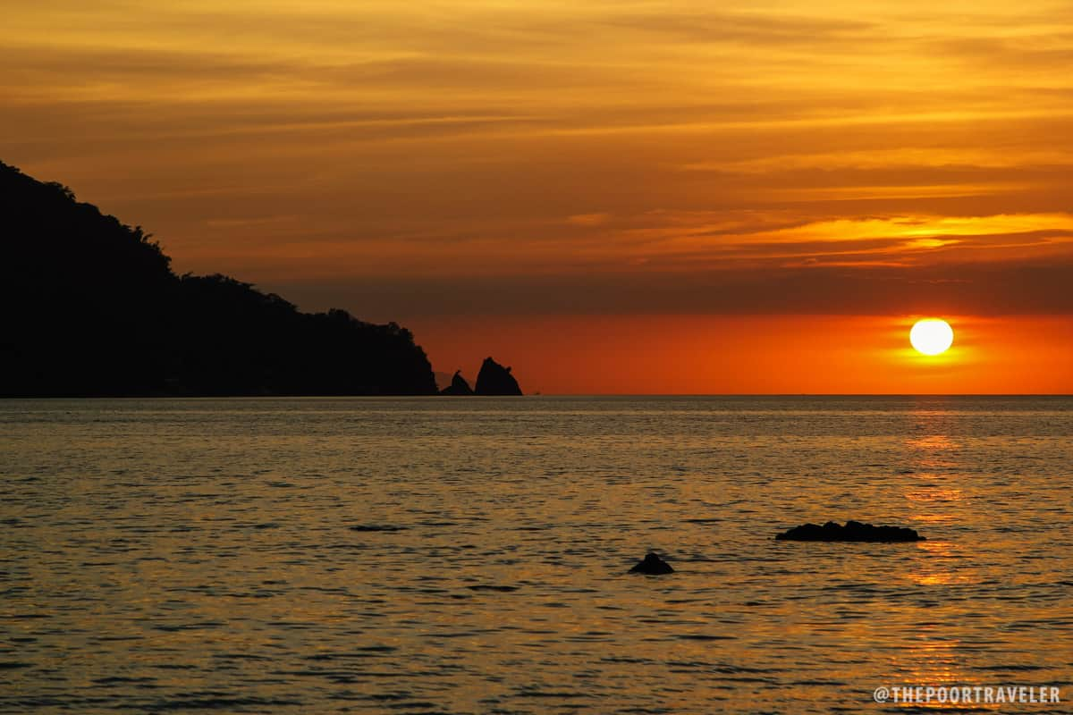 Honey-colored Anilao sunset
