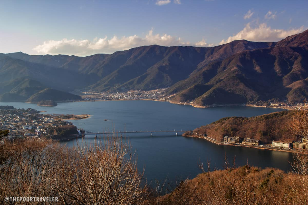 View of Lake Kawaguchi from the viewdeck of Kachi Kachi.
