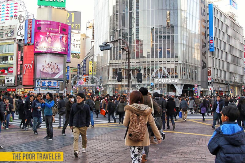 Crossing Shibuya Intersection