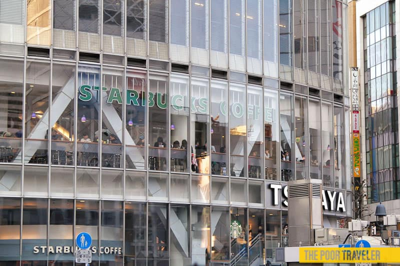 This coffee shop provides the best view of Shibuya Crossing