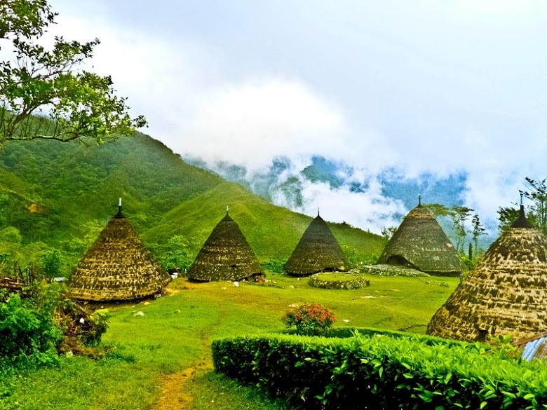 Traditional village of Wae Rebo in Flores