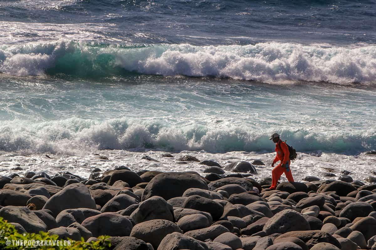 Monstrous waves at Valugan Beach