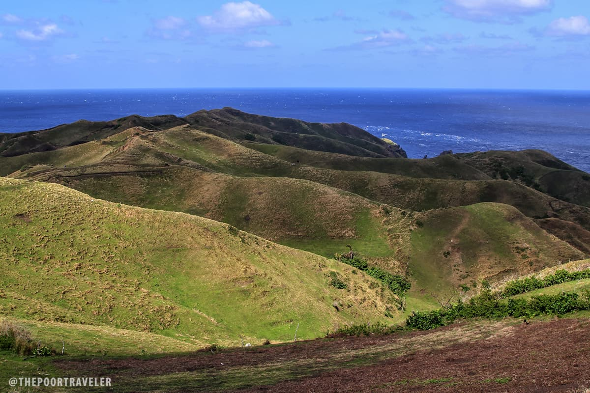 The rolling hills of Vayang face the West Philippine Sea