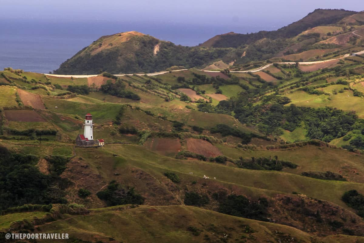 Tayid Lighthouse stands proudly amid the rolling hills of Mahatao
