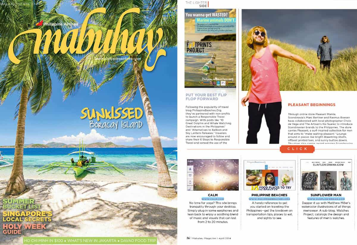 """Put Your Best Flip Flop Forward"" Mabuhay Magazine, April 2014"