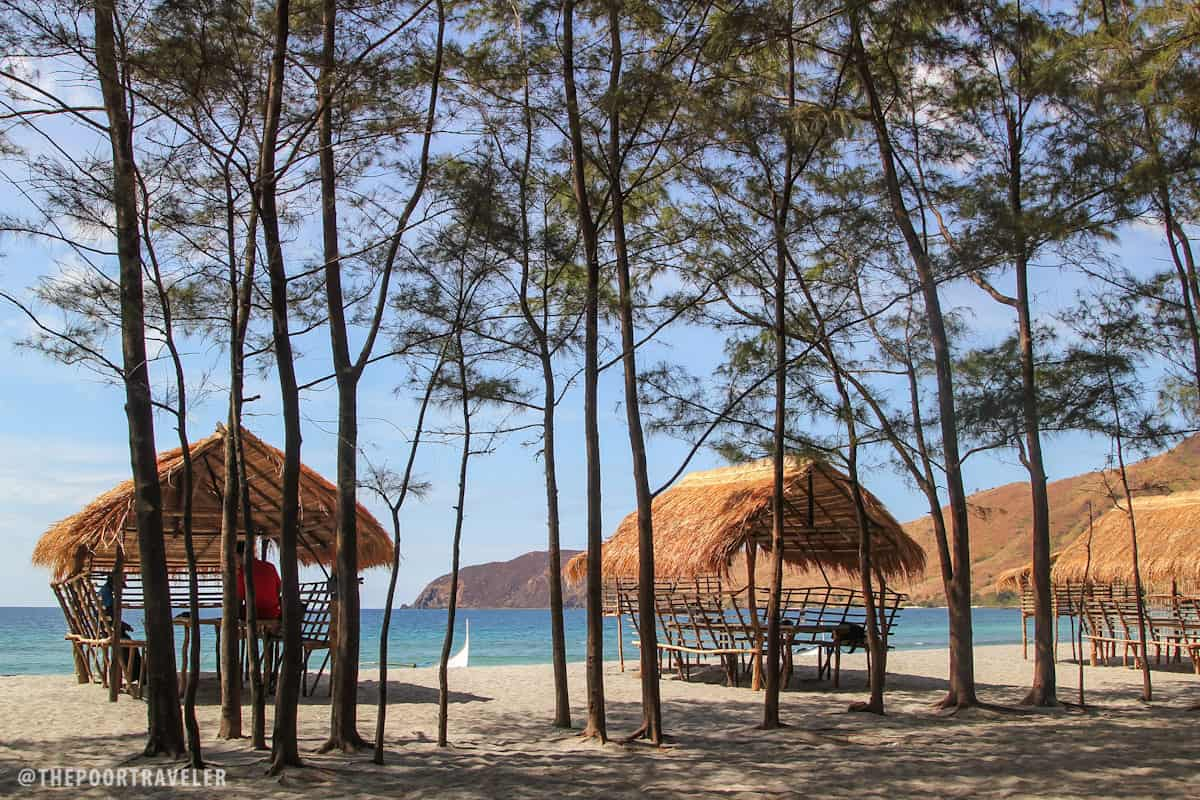 Huts for beach goers!