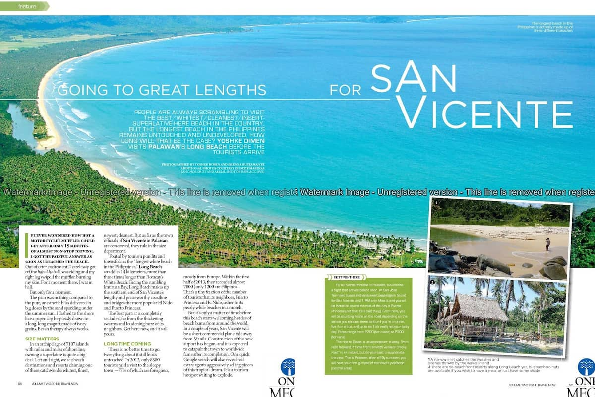 """Going to Great Lengths for San Vicente"" Travel Now, April-May 2014"