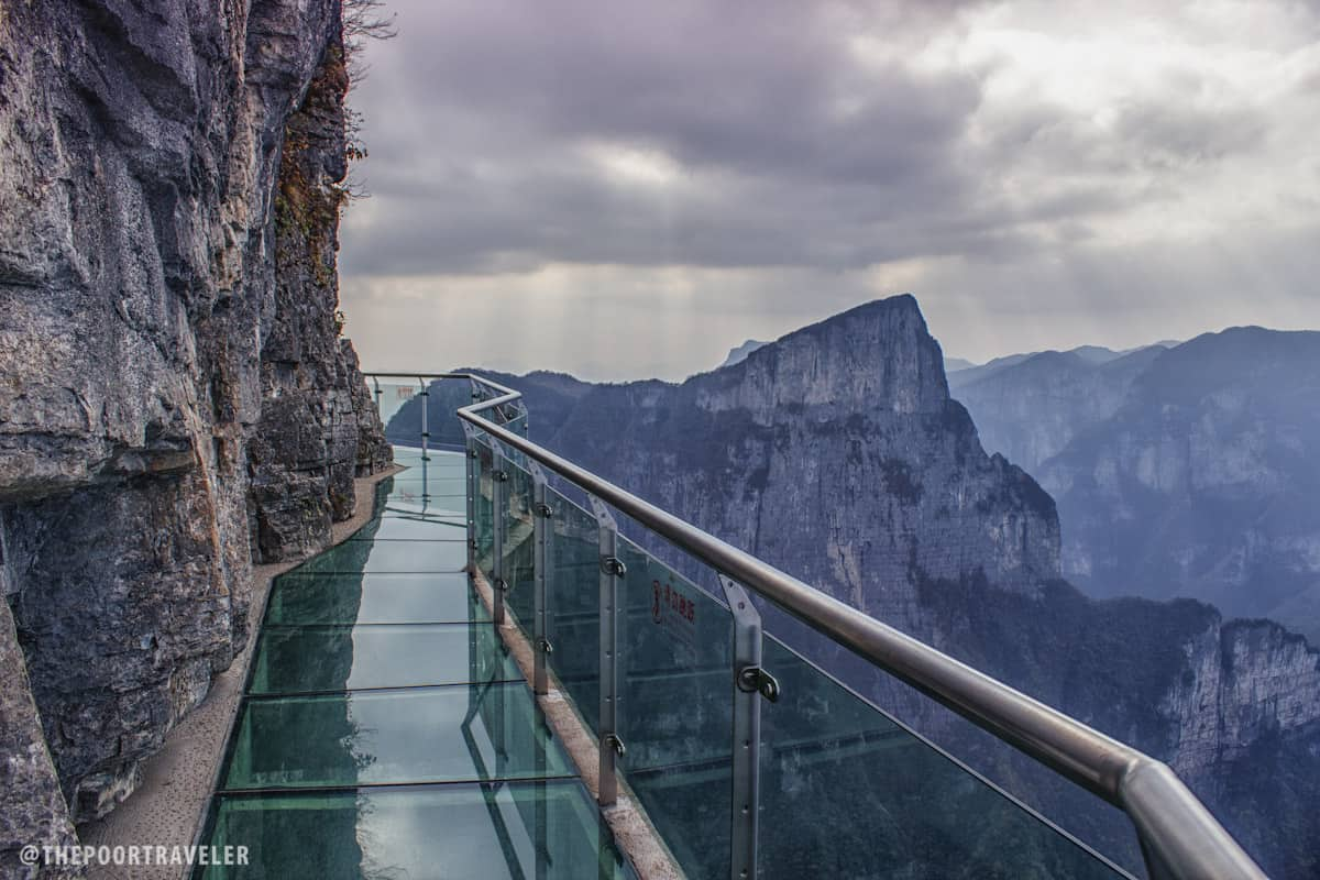 Who's up for a relaxing walk? The Tianmen Mountain Glass Walkway is perched on a mountaintop at 4700 feet above sea level!