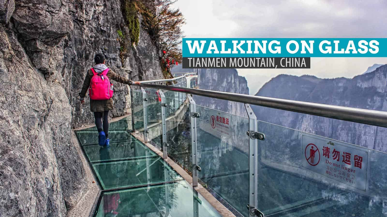 The Scariest Stroll: Walking on Glass at Tianmen Mountain, China