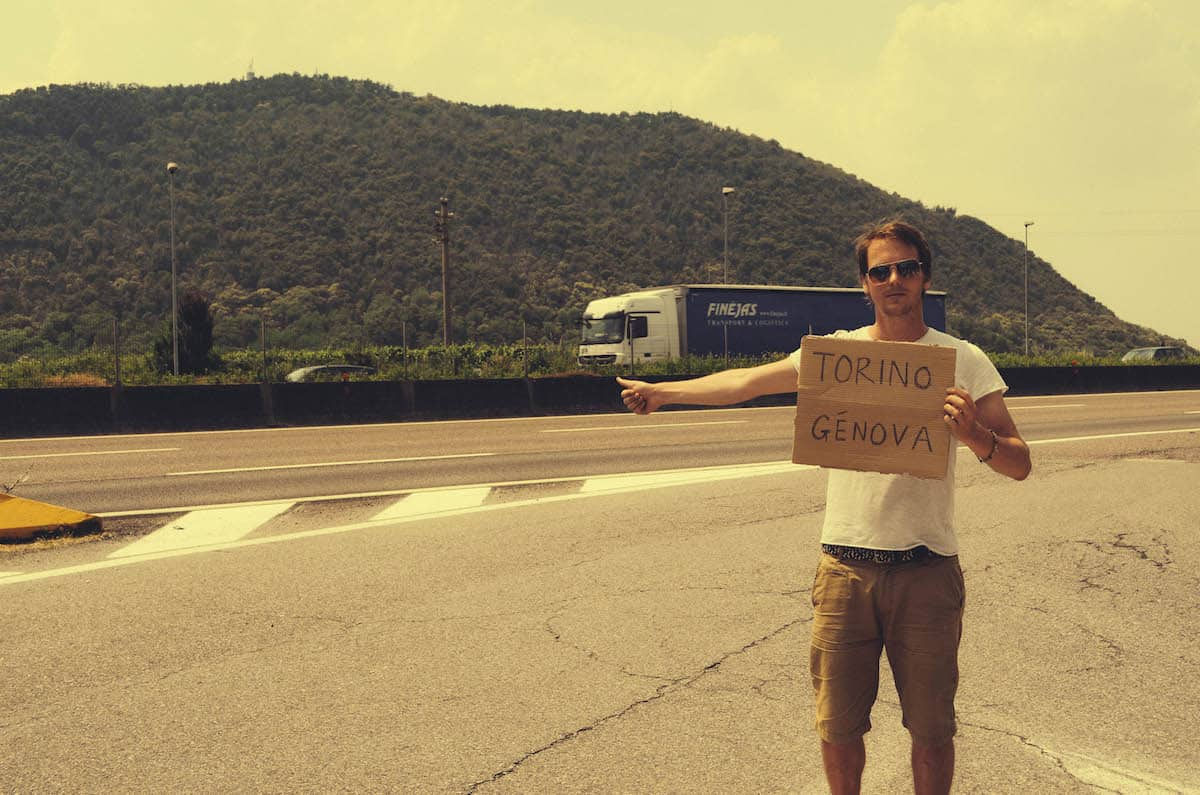 Hitchhiking in Italy