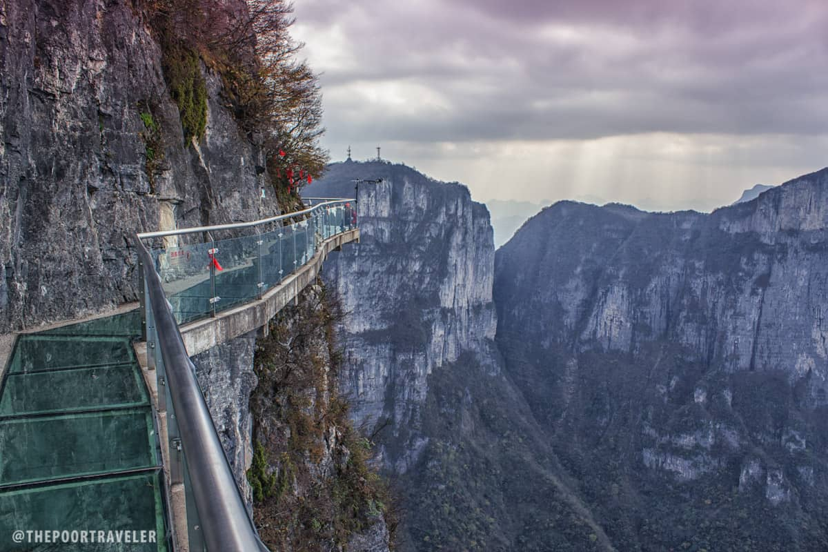 The Tianmen Mountain Glass Walkway is perched on a mountaintop at 4700 feet above sea level!