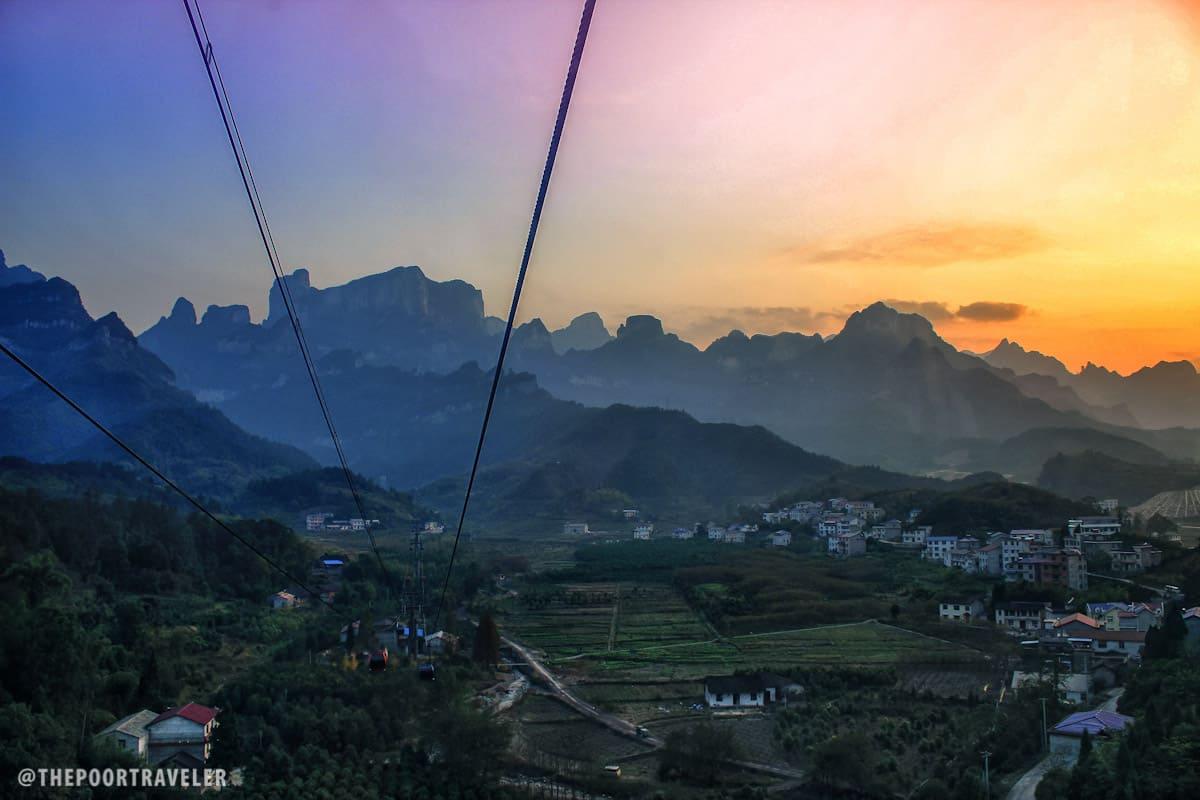Tianmen Mountain Sunset View