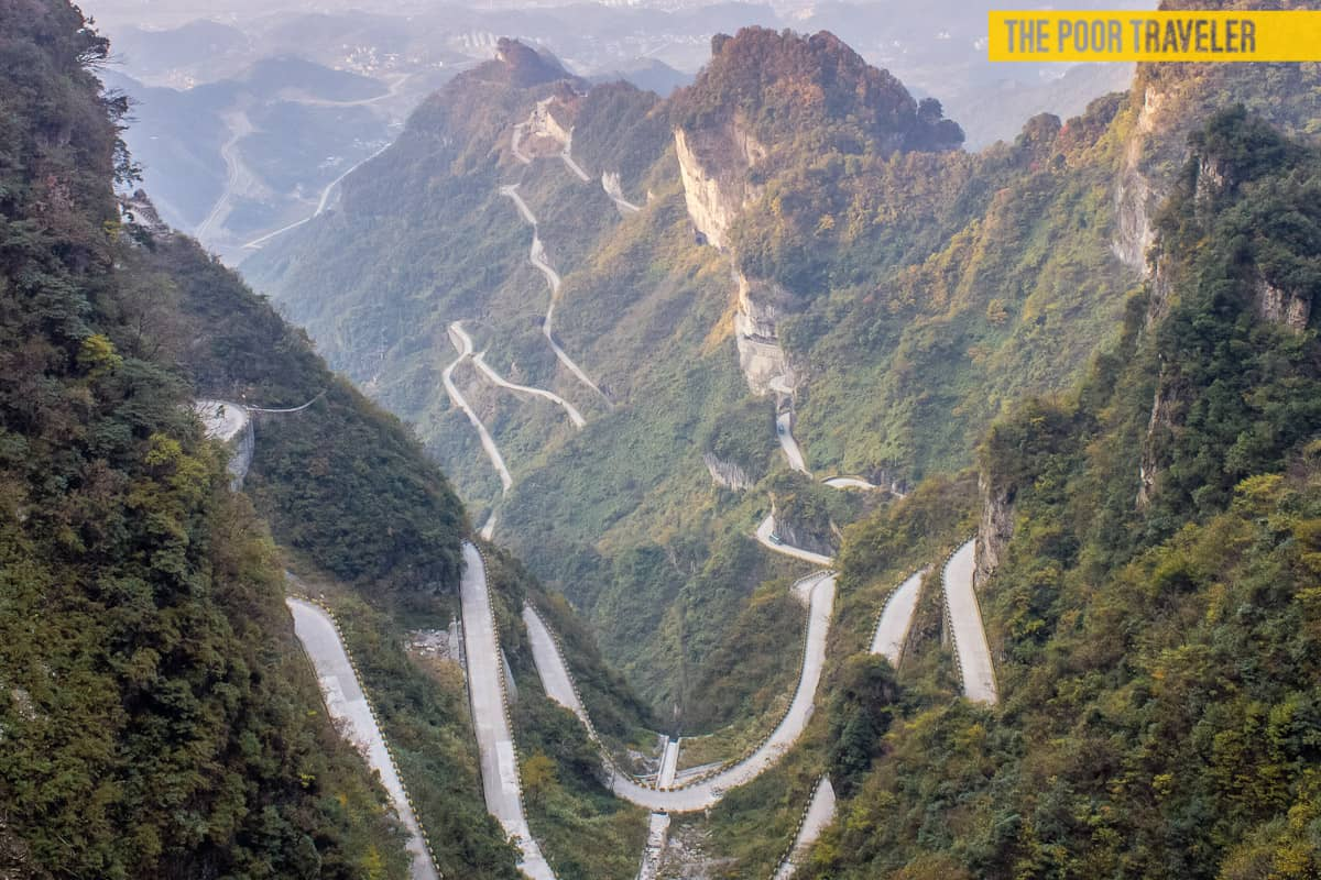 Road to Heaven, Tianmen Mountain, China