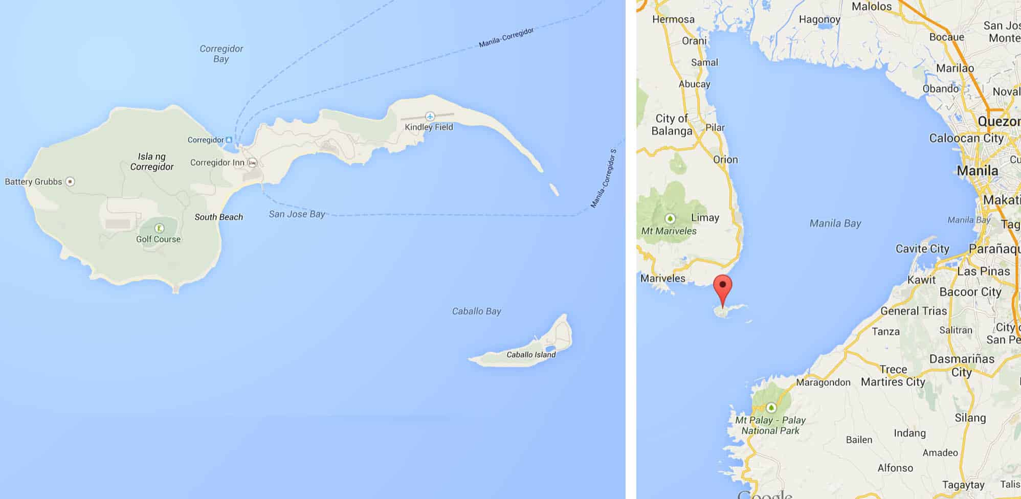 Corregidor Island and its position in Manila Bay. Alright, I'll say it. It looks like a sperm cell.