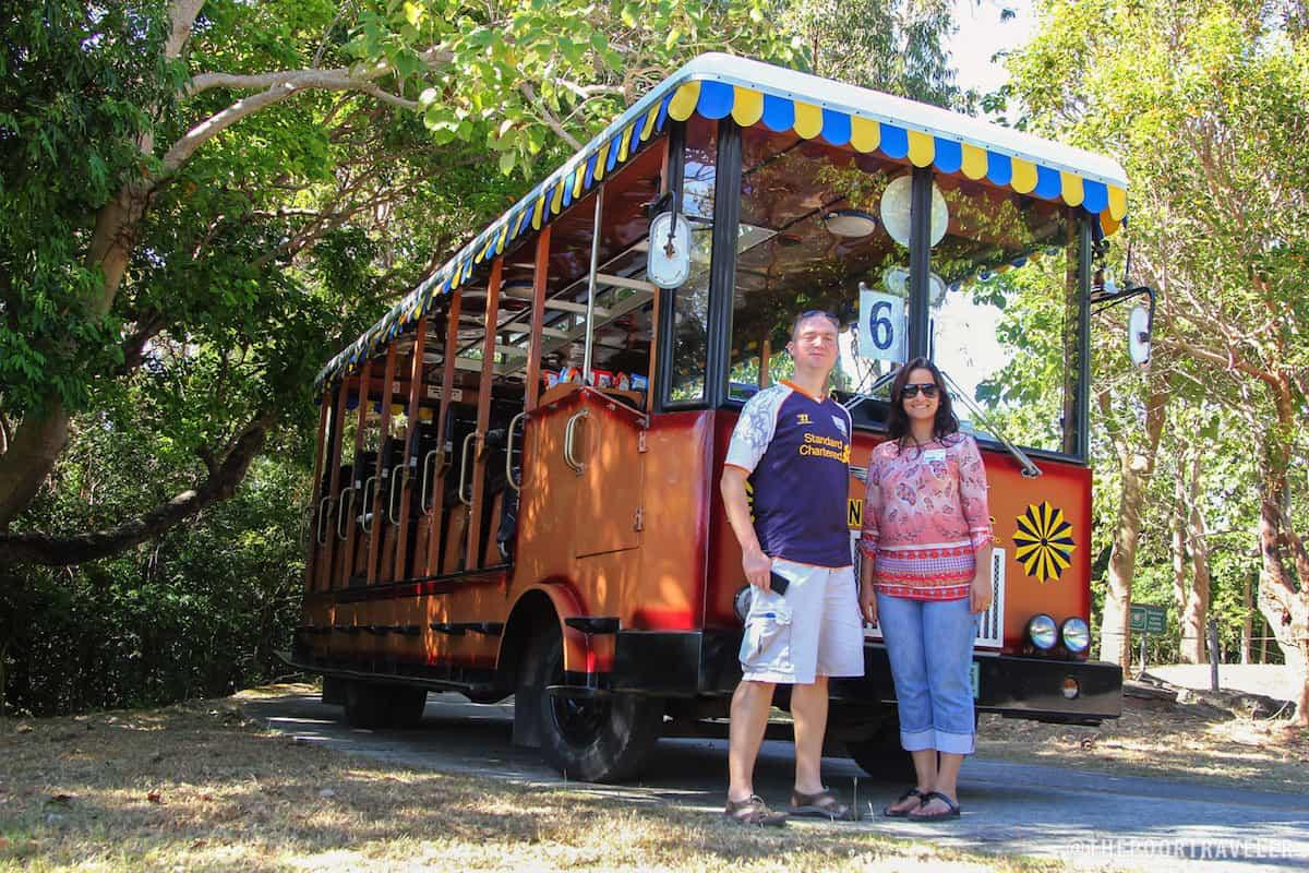 The tranvia is the most common form of transportation in Corregidor.
