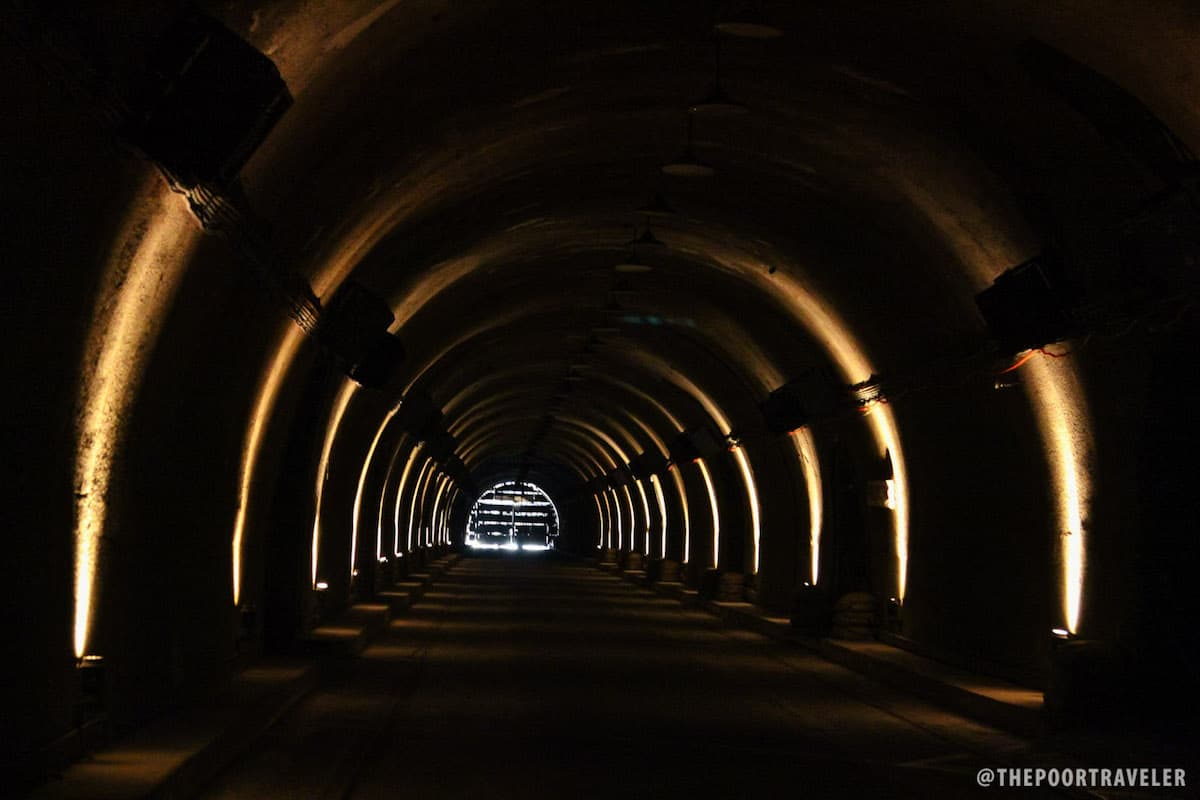 The Lights and Sounds show happens at the main tunnel of Malinta.