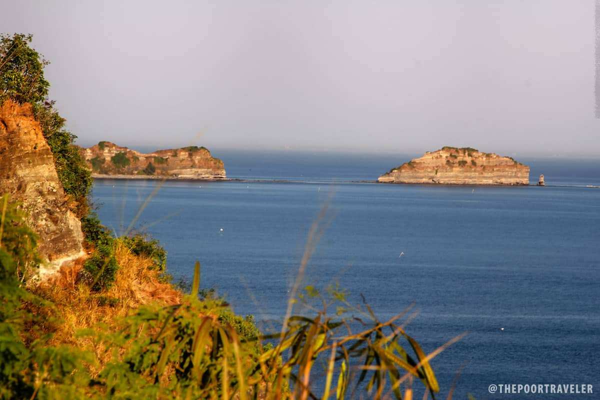 View of the tail end of Corregidor Island from the Japanese Garden of Peace.
