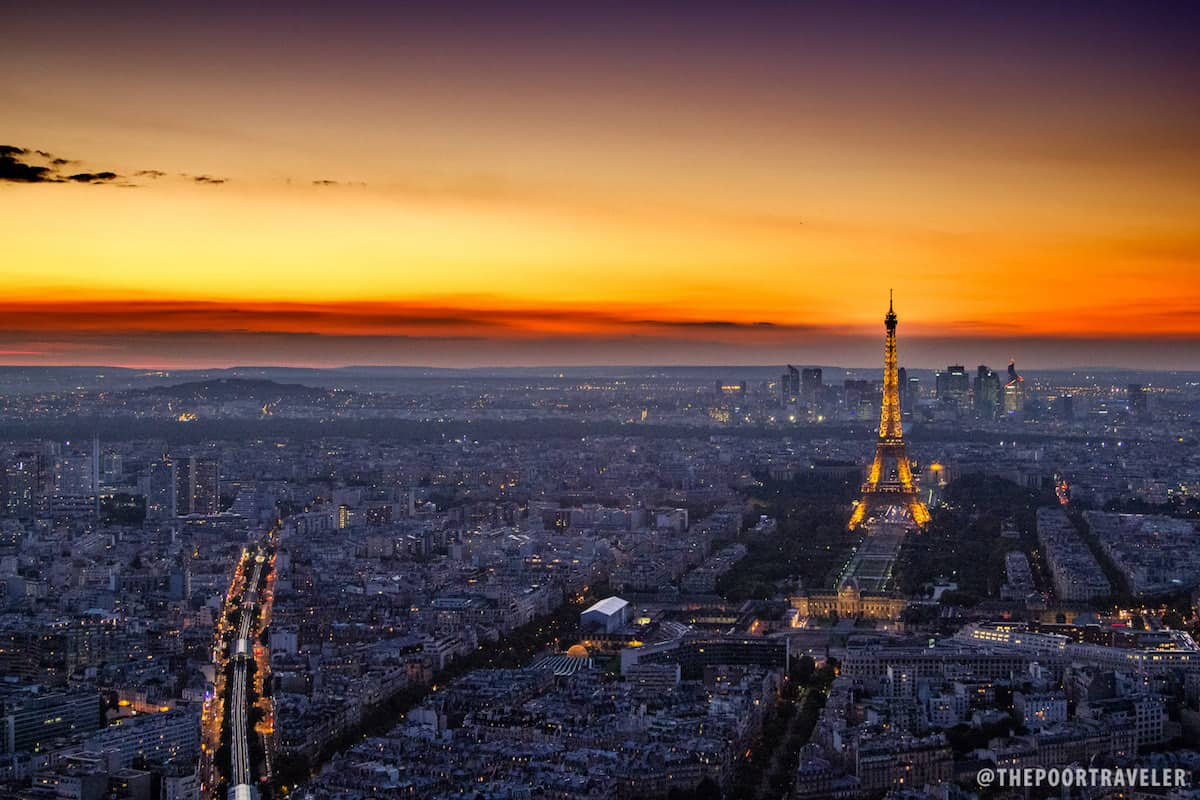 Paris as seen from Tour Montparnasse