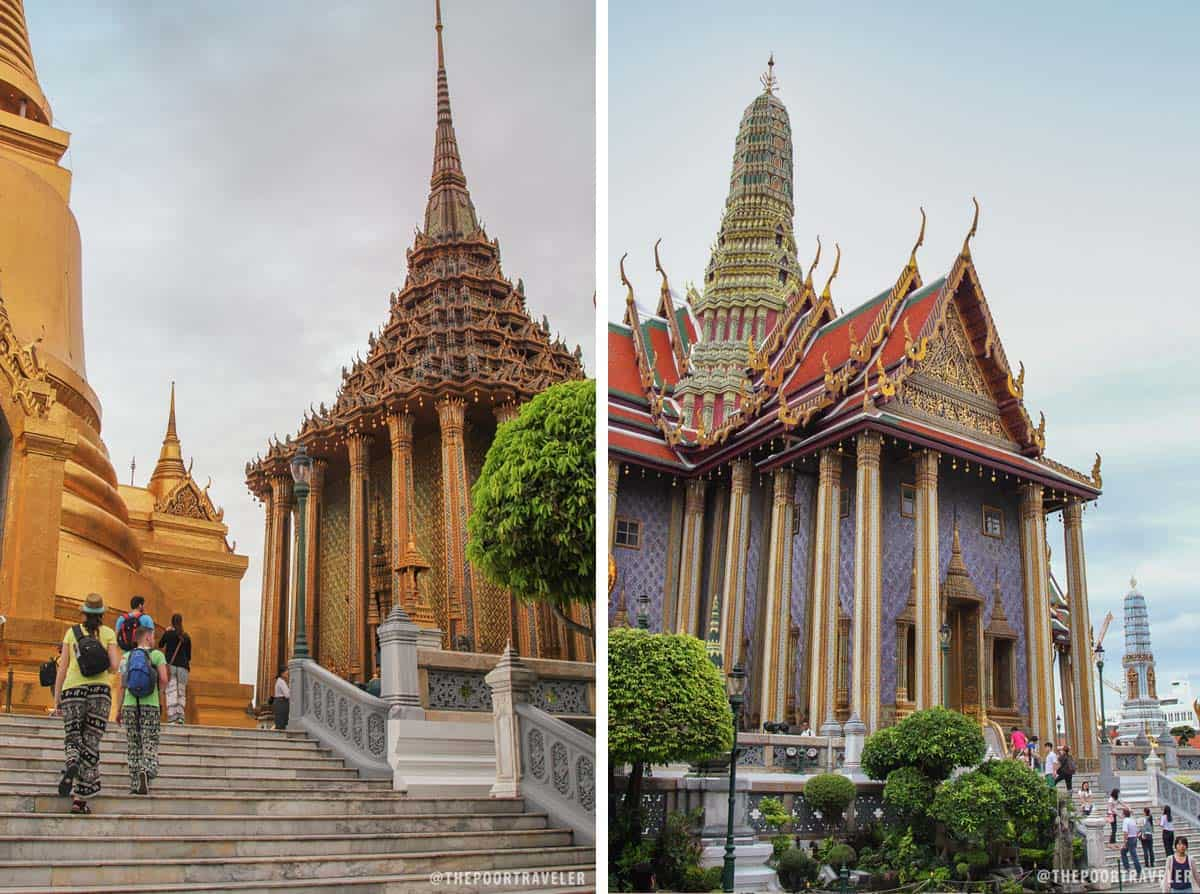Prasat Phra Thep Bidon (The Royal Pantheon) was originally built in 1855 to house the Emerald Buddha but was later dropped because it was too small for such an honor.