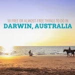 10 FREE or Cheap THINGS TO DO IN DARWIN, Australia