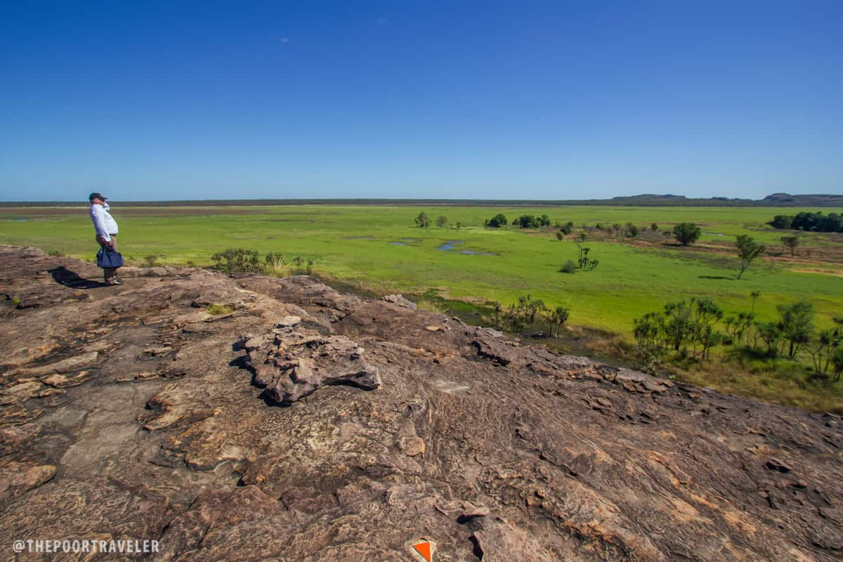 Nadab Lookout offers a spectacular view of the surrounding Nadab Floodplains (Arnhem Land).