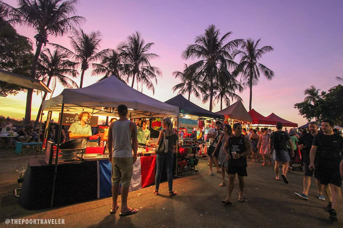 The choices at the Mindil Sunset Market are endless! Pizza, burgers, seafood, Asian, Western, name it.
